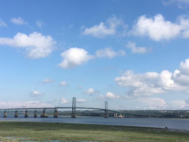 Ile d'Orléans, Quebec, Kanada, Hängebrücke