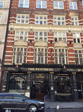 London, England, UK, London-Walk, Sight Seeing, Pub, The Feathers
