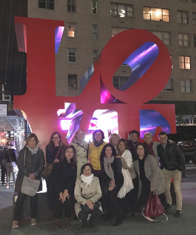 New York, USA, Geburtstagsreise, Reisenotizbuch, Manhattan, Love Skulptur, Freunde