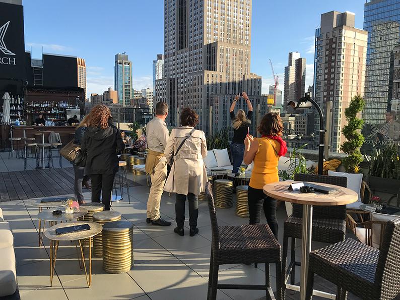 New York, USA, Geburtstagsreise, Reisenotizbuch, Manhattan, Monarch Rooftop Lounge