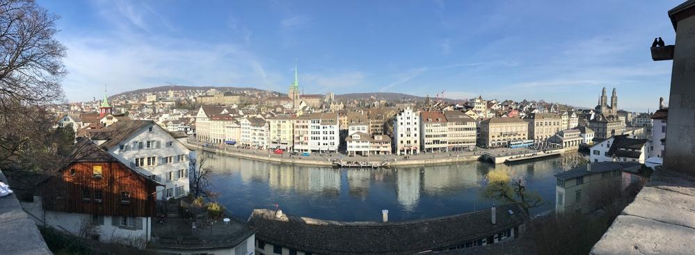 Zürich, Schweiz, Lindenhof, Limmat