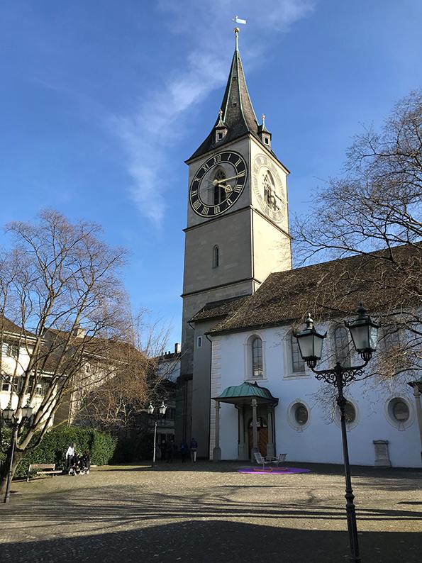 Zürich, Schweiz, St. Peter, Zifferblatt