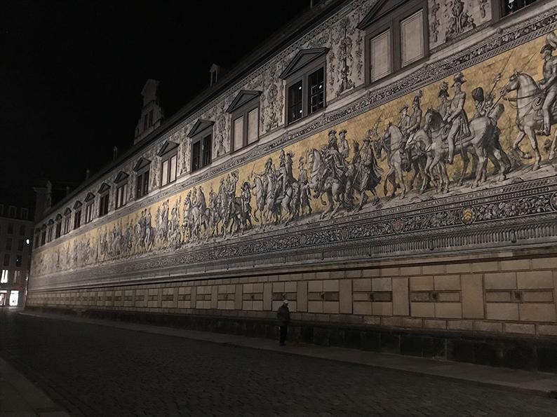 Dresden, DDR, Ostdeutschland, Deutschland, Fürstenzug