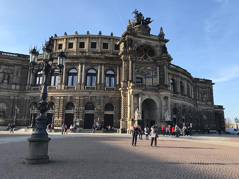 Dresden, DDR, Ostdeutschland, Deutschland, Semperoper