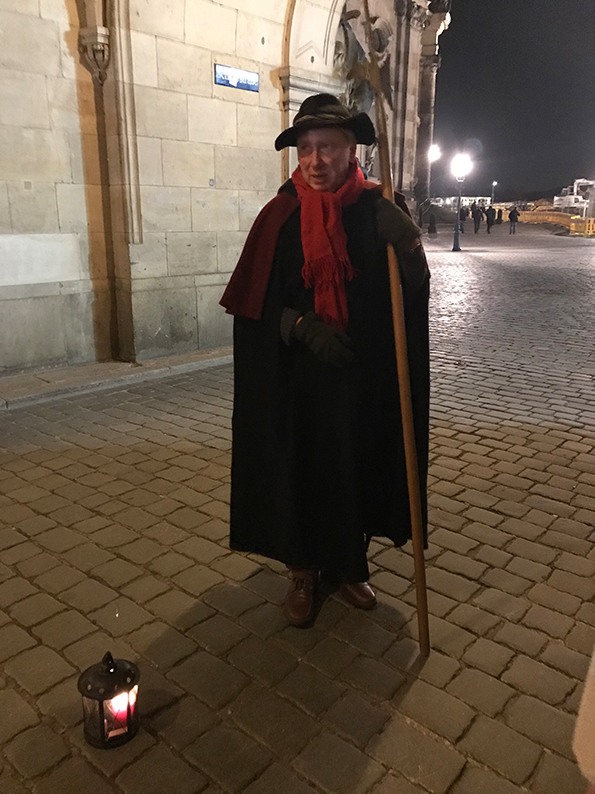 Dresden, DDR, Ostdeutschland, Deutschland, Nachtwächtertour