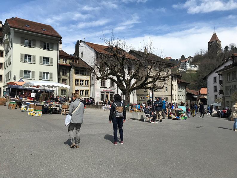 Fribourg, Freiburg, Schweiz, Café Hopping