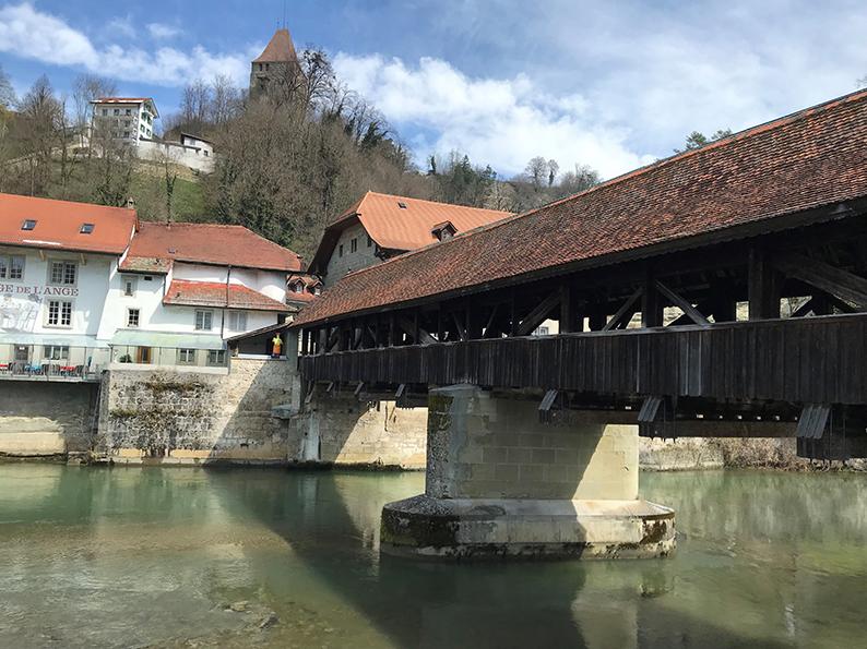Fribourg, Freiburg, Schweiz, Café Hopping, Bernbrücke, Holzbrücke