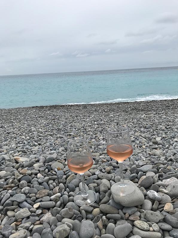 Nizza, Côte d'Azur, Frankreich, Promenade des Anglais, I love Nice, Plage Blue Beach