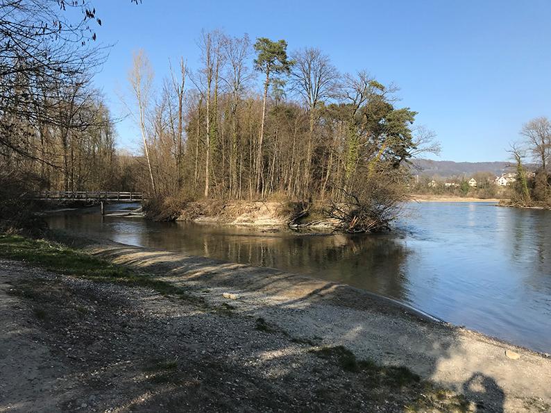 Wasserschloss, Brugg, Windisch, Aare, Reuss, Limmat, Aargau, Schweiz, Sunntigs-Kafi