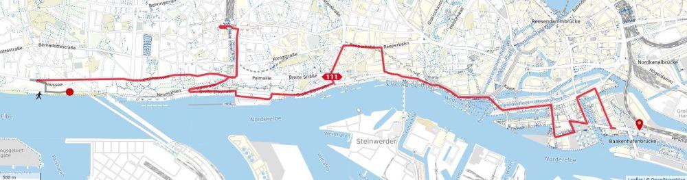 Hamburg, Sightseeing, Stadtrundfahrt, HVV, 111er, Deutschland