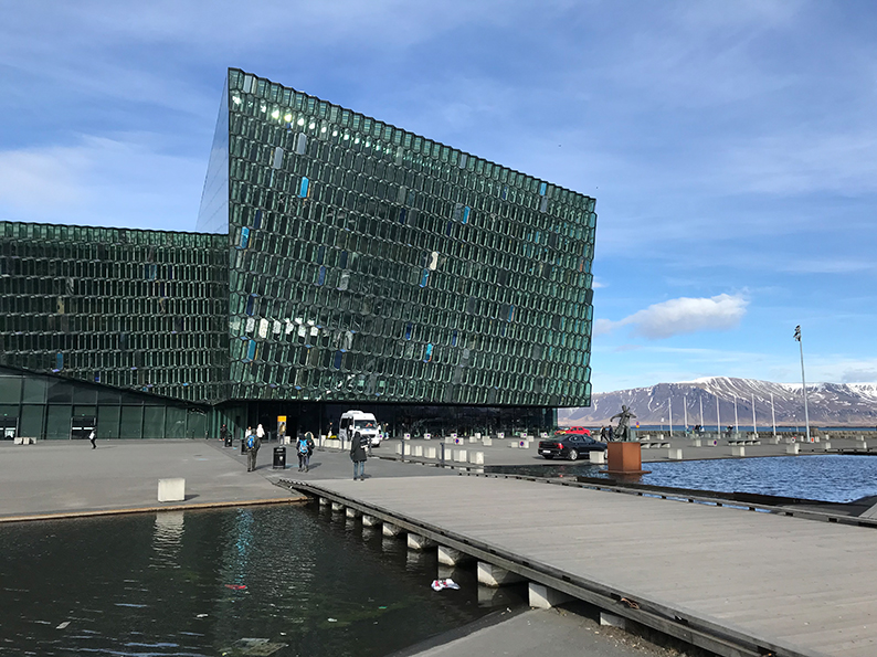 Island, Reykjavik, Polarlichter, Superjeep, Harpa