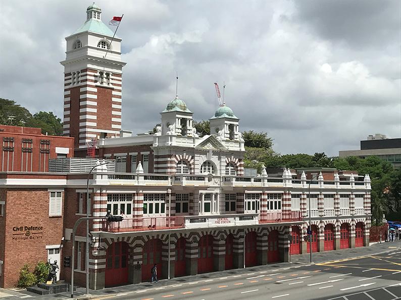 Singapur, Insta Hot Spot, Old Hill Street Fire Station