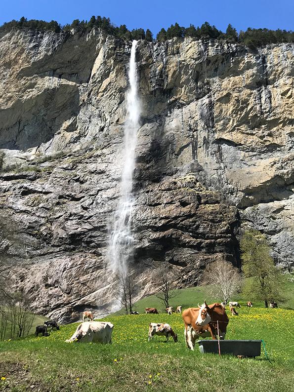 Lauterbrunnen, Berner Oberland, Schweiz, Staubbachfall